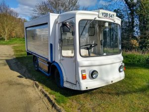 a picture of a milk float