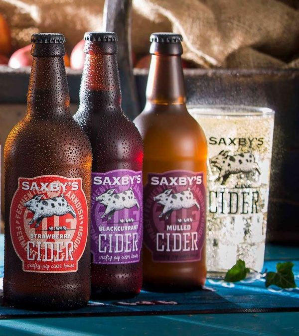 A picture of Saxby's cider range